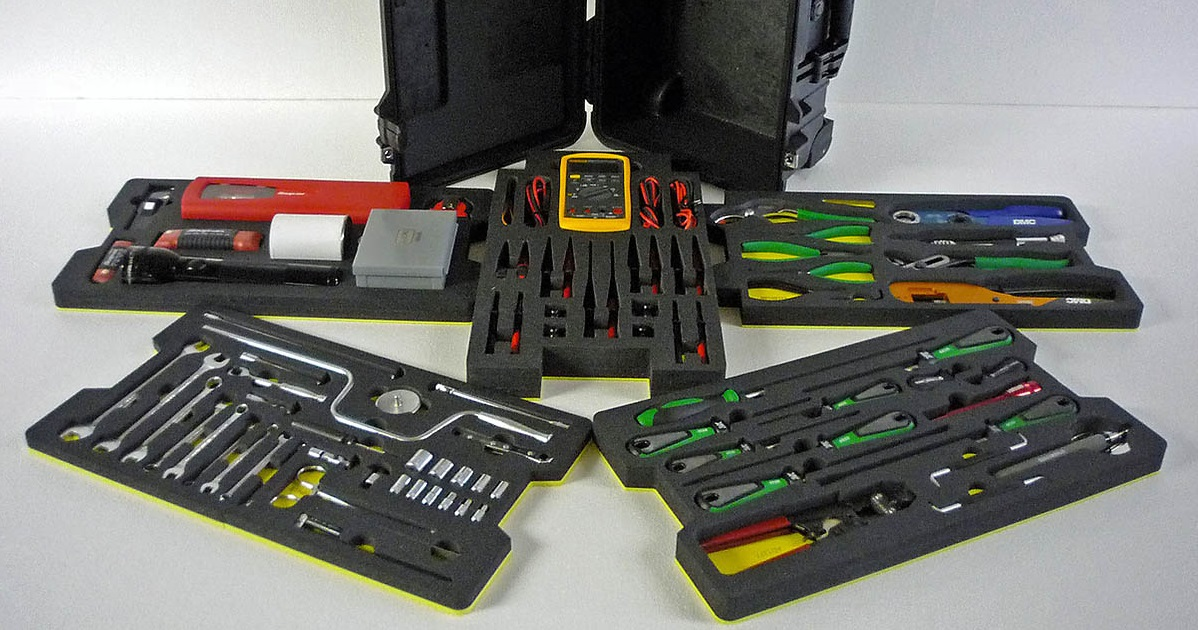 YOUR TOOLS ARE SAFE WITH OUR FOAMED CASES